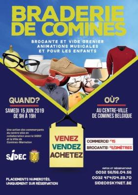 Braderie de Comines affiche 2019